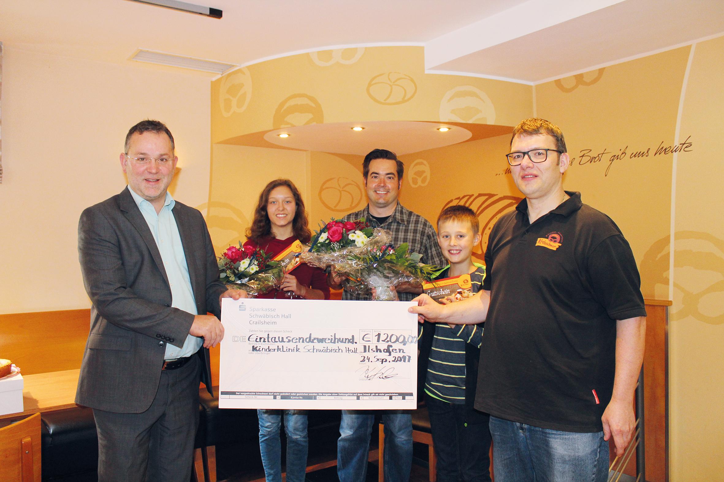 Spendenaktion durch Losverkauf bei der Bäckerei Kretzschmar