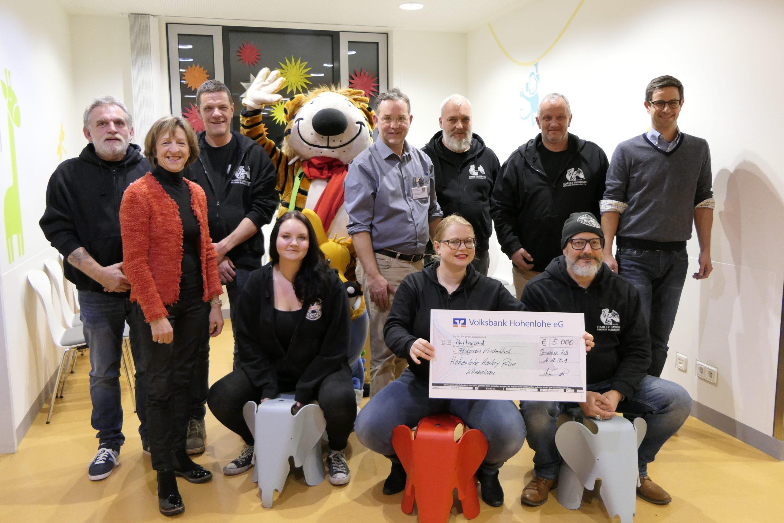 Harley-Freunde Hohenlohe spenden 5 000 Euro