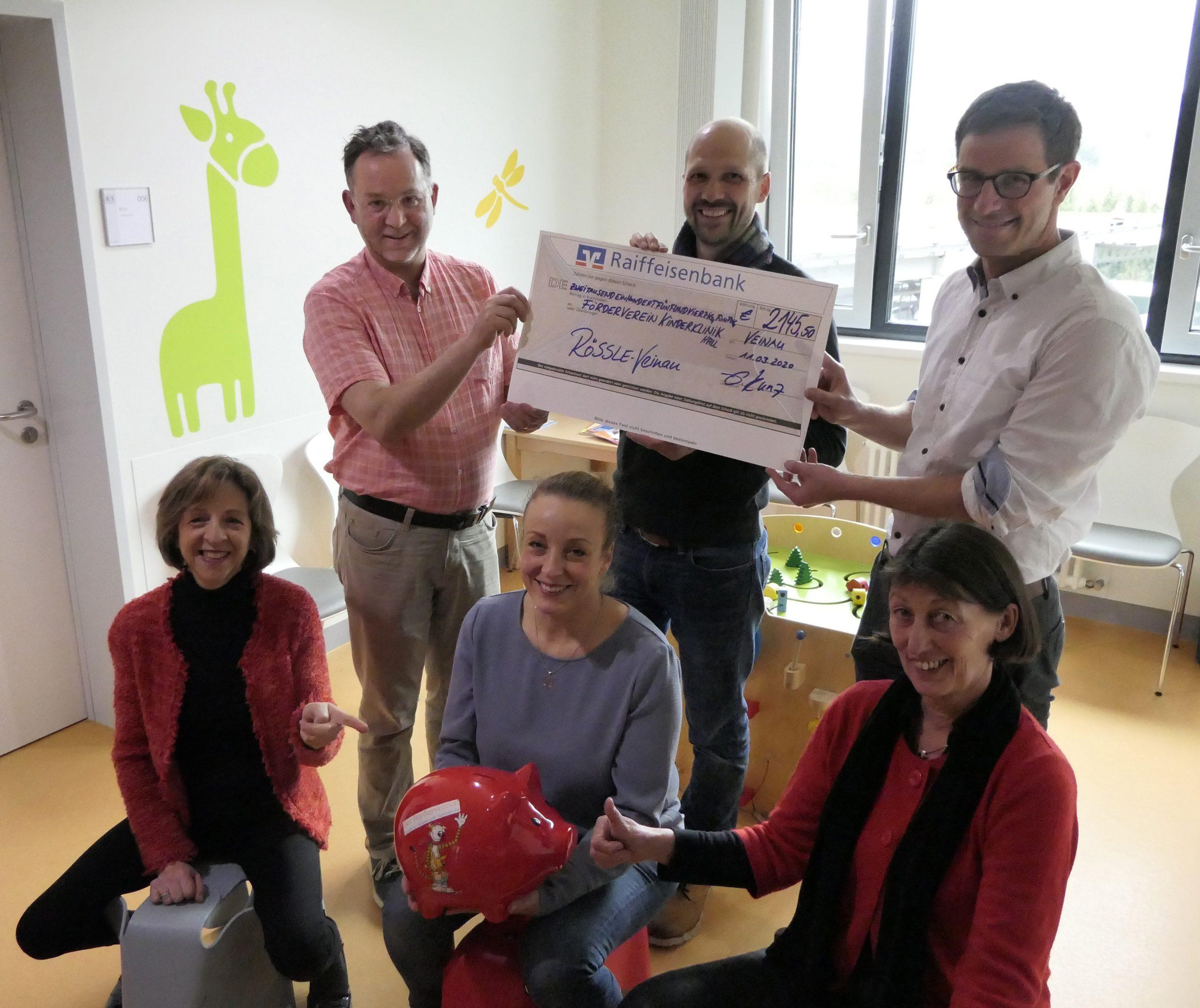 Rössle in Veinau sammelt Spenden zu Gunsten der tiergestützten Therapie am Diak